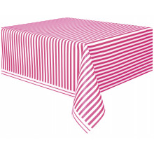 Tablecover with pink stripes