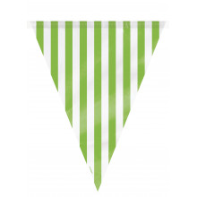 Green flag banner with stripes