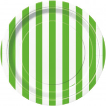 """Plates 7"""" - green with stripes"""