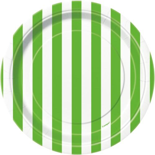 Zelene črte krožniki 18 cm