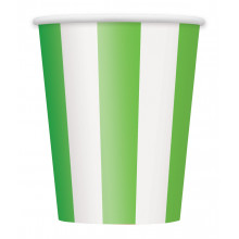 Cups 12OZ - green with stripes