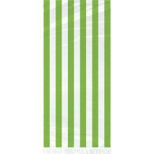Cello bags with green stripes