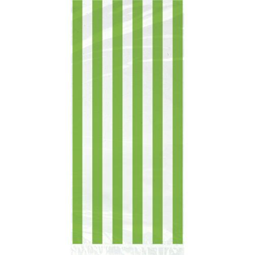 Zelene črte celofan darilne vrečke