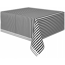 Tablecover with black stripes