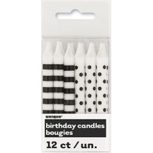 Črne črte in pike svečke