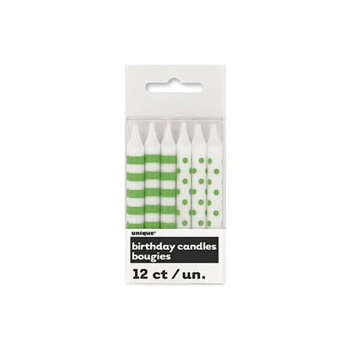 Zelene črte in pike svečke