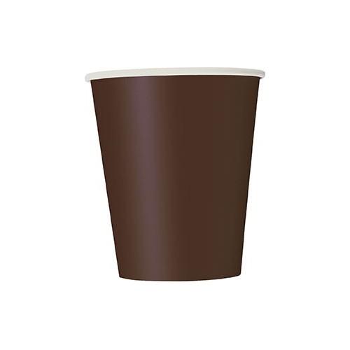 Cups 9OZ - Brown 14 pcs