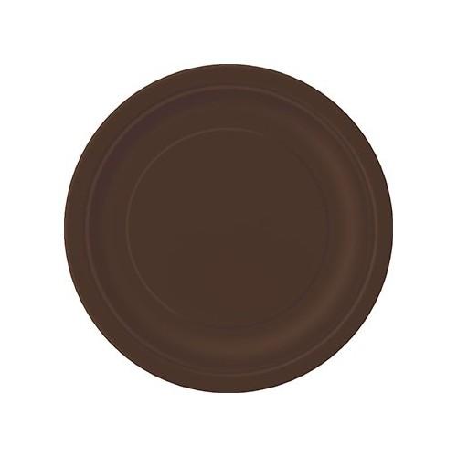"""Plates 9"""" - Brown 8 pcs"""