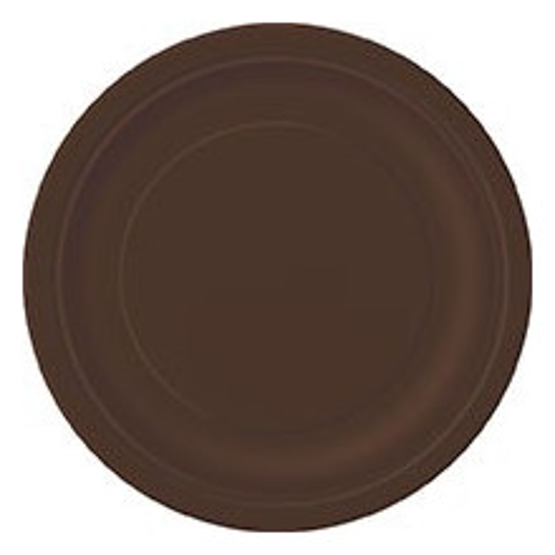 """Plates 7"""" - Brown 8 pcs"""