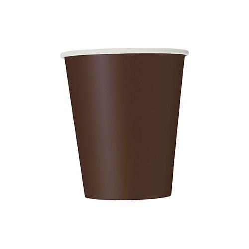 Cups 9OZ - Brown 8 pcs