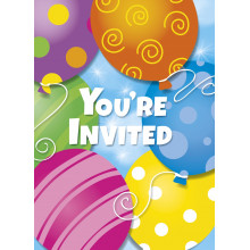 Twinkle balloons invitations