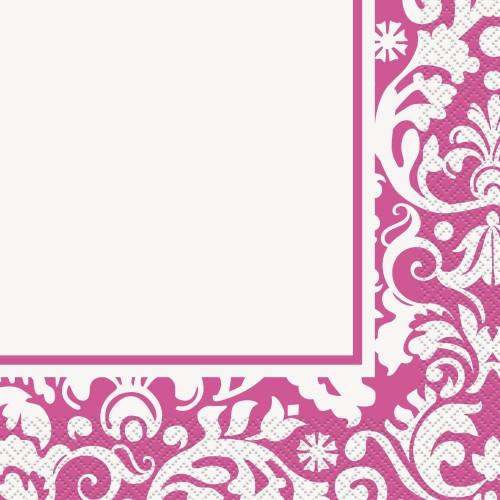 Luncheon napkins - Pink Damask