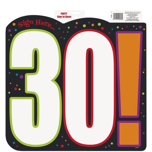 Birthday Cheer 30 izrezan obesek