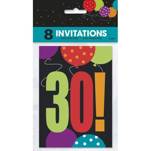 Birthday Cheer 30 Invitations