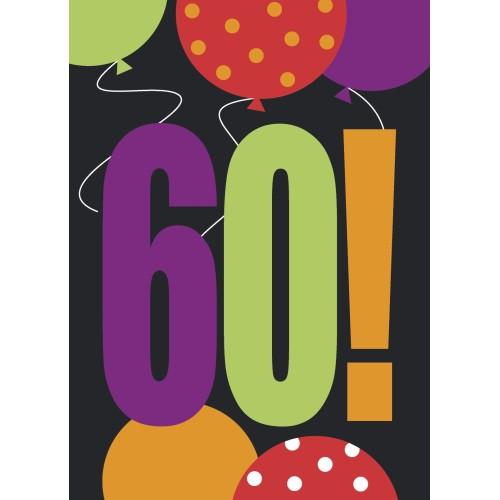 Birthday Cheer 60 Invitations
