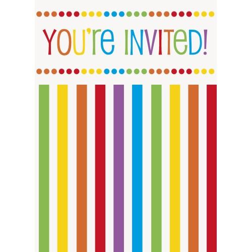 Rainbow Invitations