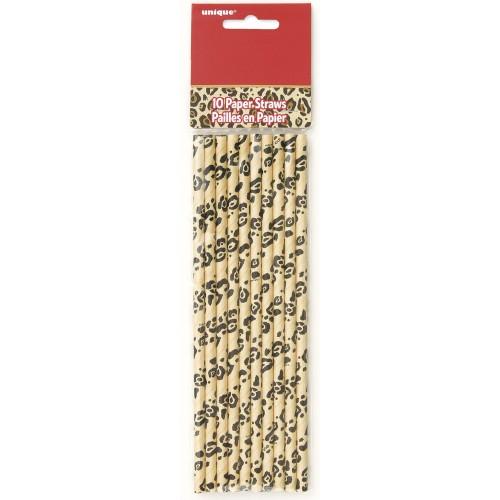 Cheetah straws 10 pcs