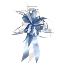 Bow - light blue and white