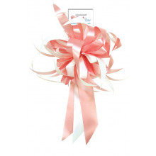 Bow - pink and white
