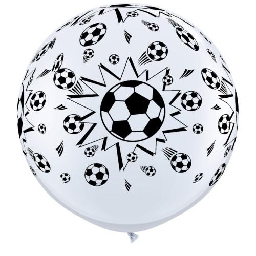 Giant printed Balloon 90 cm - Football - 1 pcs