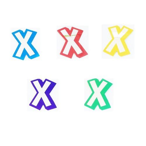 Buchstabe X - Aufkleber