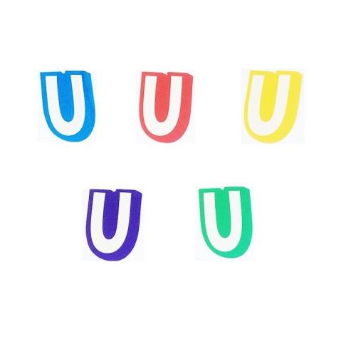 Letter U - sticker