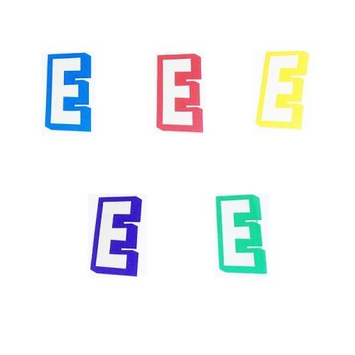 Letter E - sticker
