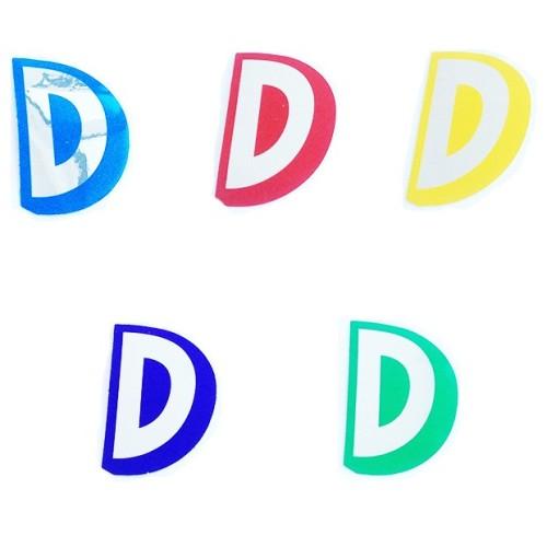 Letter D - sticker