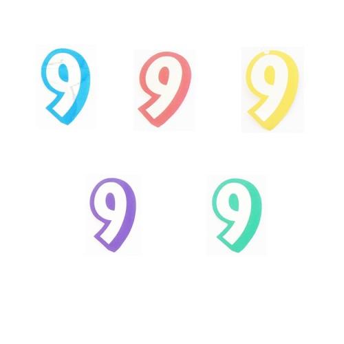 Number 9 - sticker