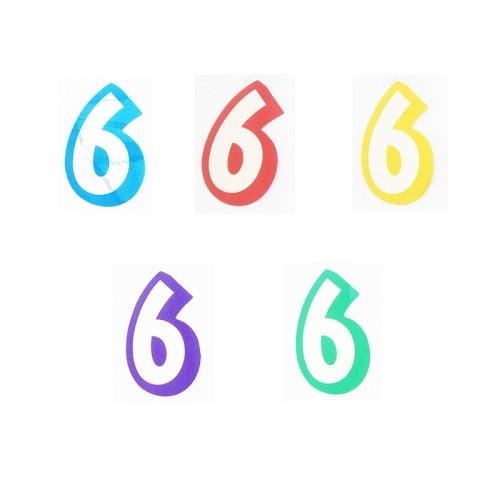 Številka 6 - nalepka