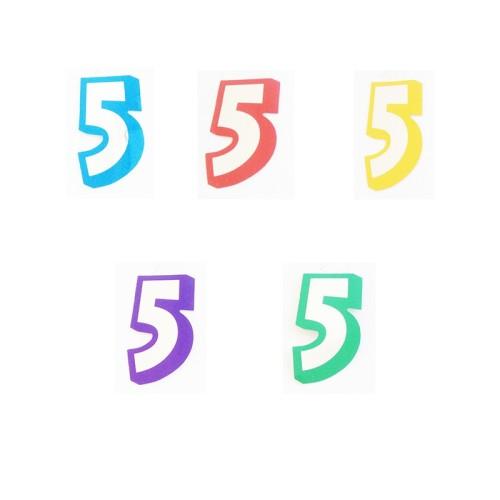 Number 5 - sticker
