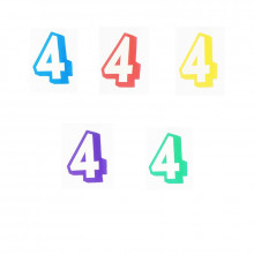 Številka 4 - nalepka