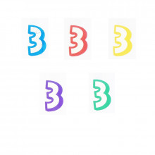 Number 3 - sticker