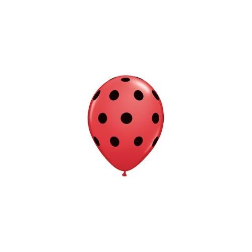 Balon Polka dot - črne pikice 12 cm