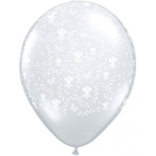 Balon Flowers - Diamond Clear 13 cm