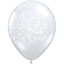 Balon Filigree & Hearts - Diamond Clear