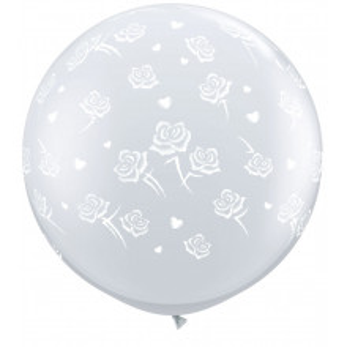 Balloon Hearts & Roses 3ft 90 cm - 1 pcs