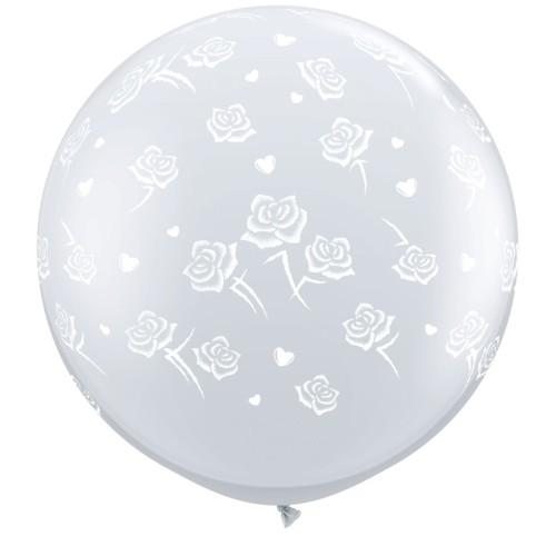 Balon Hearts & Roses 90 cm