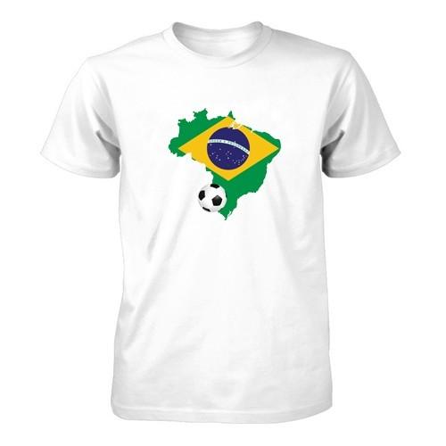 Herren T-Shirt - Brasilien und Ball