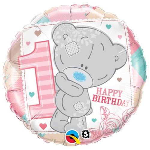 Me to you Tiny Tatty 1st Birthday Girl - foil balloon