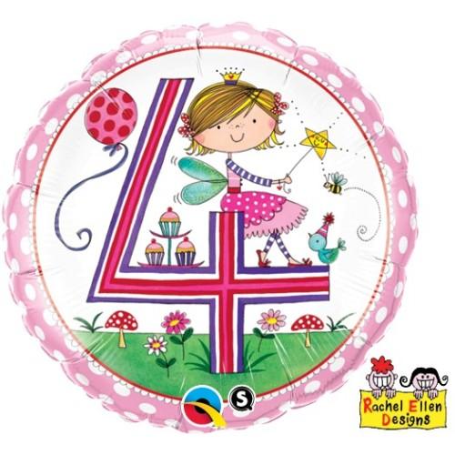 Rachel Ellen Age 4 Fairy Polka Dots - foil balloon