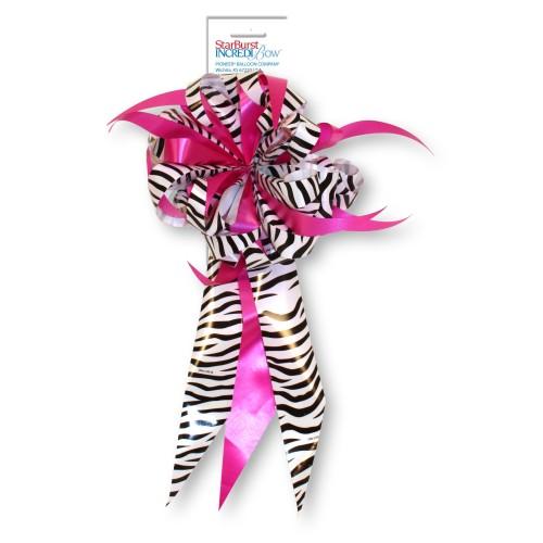 Bow - Zebra and Fuchsia