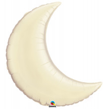 """Pearl Ivory Crescent Moon - foil balloon 35"""""""