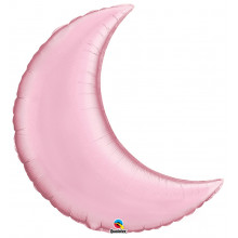 """Pearl Pink Crescent Moon - foil balloon 35"""""""