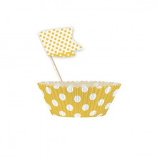 Cupcake Decorating Kit - Yellow Dots