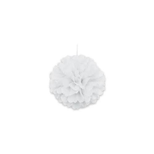 Puff ball decoration - White