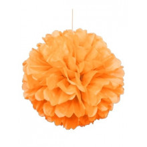 Puff ball decoration - Orange