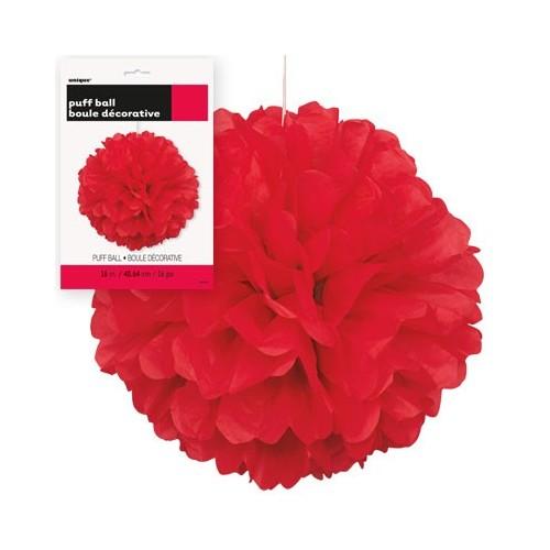 Puff Pom Lampion - Red