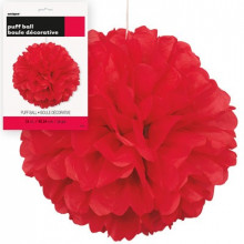 Puff ball decoration - Red