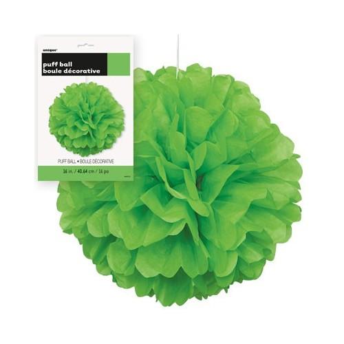 Puff  Pom  lampijon - Lime Green
